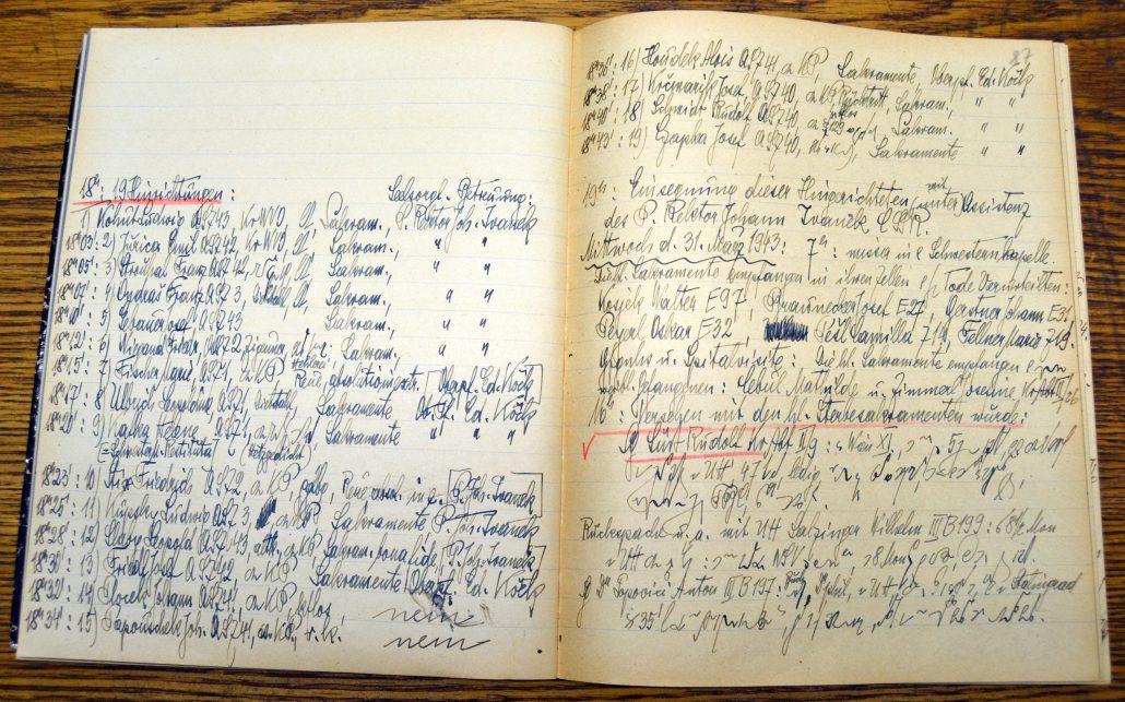 Hinrichtungsliste 30.03.1943