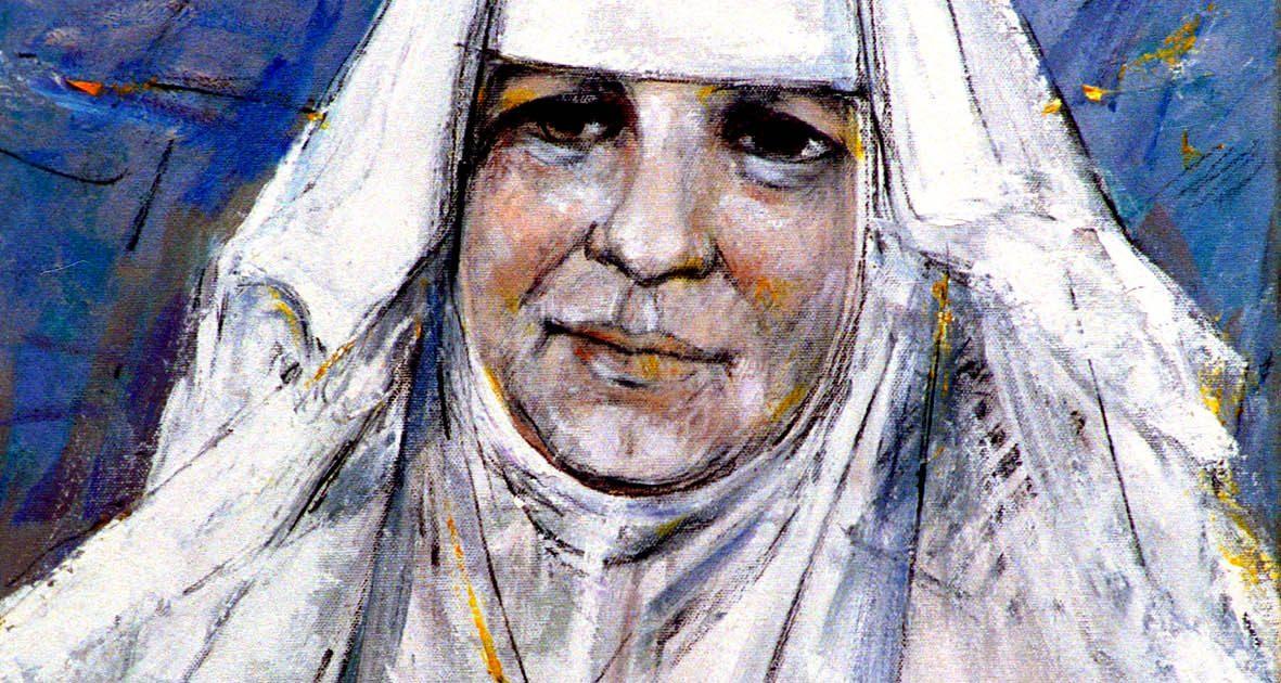 Gemälde: Portrait Restituta in weißem Schwesterngewand