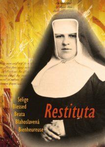 Cover von dem Buch Selige Restituta mit Abbildung der Schwester Restituta mit ernstem Blick