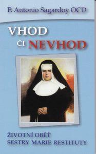 Cover mit Portrait der ernst blickenden Schwester Restituta mit vor dem Bauch gefalteten Händen