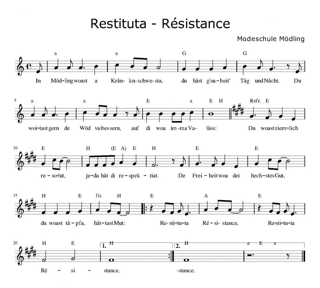 Noten: Restituta Resistance