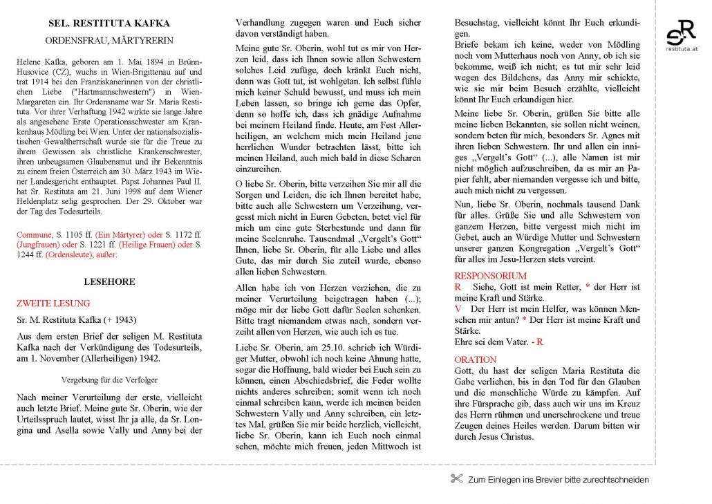 Stundenbuch Lesehore